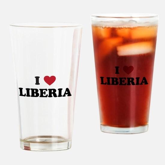 I Love Liberia Drinking Glass