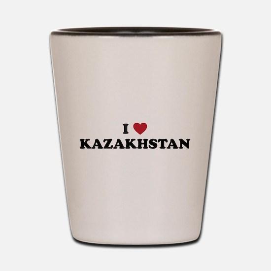 I Love Kazakhstan Shot Glass