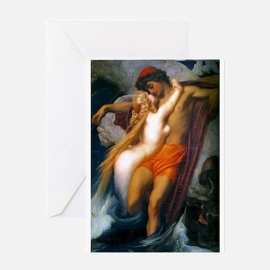 Leighton - Fisherman & Siren Greeting Card
