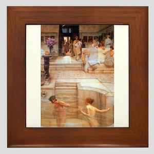 Alma-Tadema - Fav. Custom Framed Tile