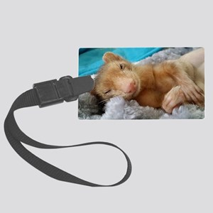 Noodle the Ferret Large Luggage Tag