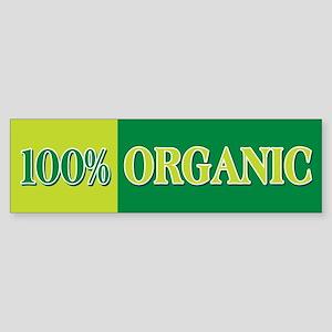 100% Organic Bumper Sticker