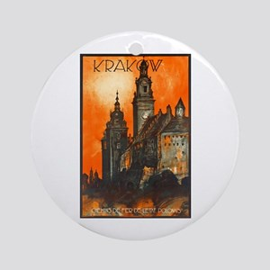 Poland Travel Poster 1 Ornament (Round)