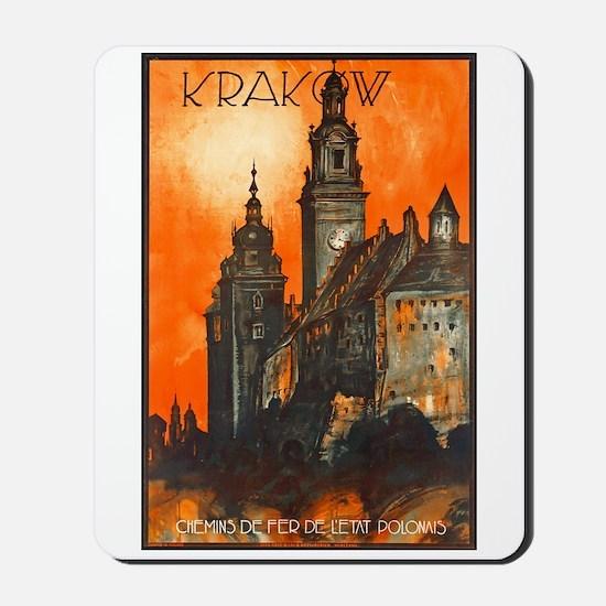 Poland Travel Poster 1 Mousepad