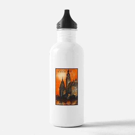 Poland Travel Poster 1 Water Bottle