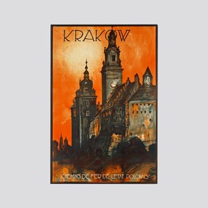 Poland Travel Poster 1 Rectangle Magnet