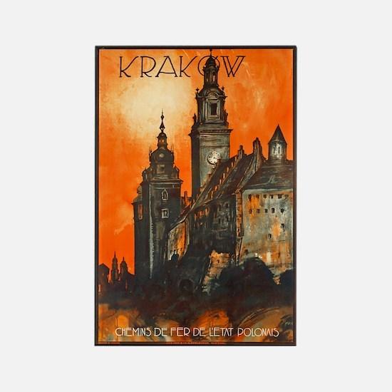 Poland Travel Poster 1 Rectangle Magnet