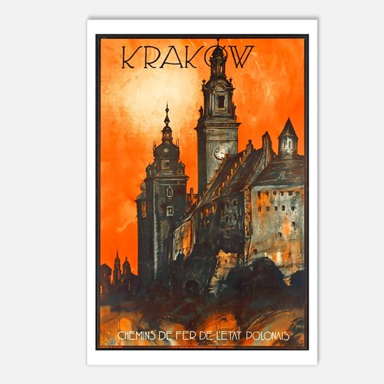Poland Travel Poster 1 Postcards (Package of 8)