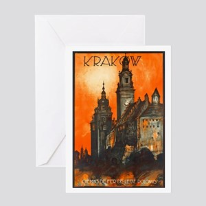 Poland Travel Poster 1 Greeting Card