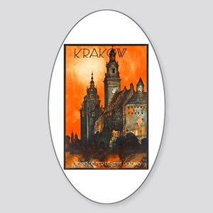 Poland Travel Poster 1 Sticker (Oval)