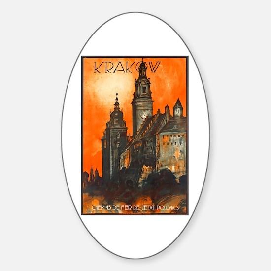 Poland Travel Poster 1 Sticker (Oval)