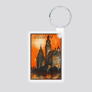Poland Travel Poster 1 Aluminum Photo Keychain