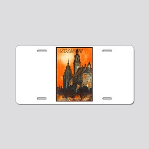 Poland Travel Poster 1 Aluminum License Plate
