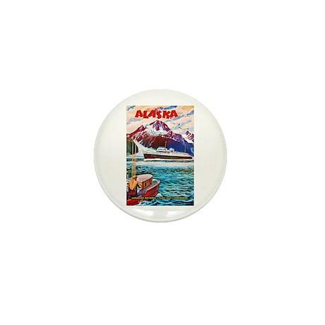 Alaska Travel Poster 1 Mini Button (100 pack)