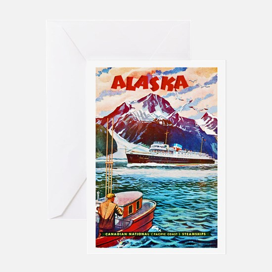 Alaska Travel Poster 1 Greeting Card