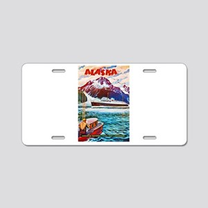 Alaska Travel Poster 1 Aluminum License Plate