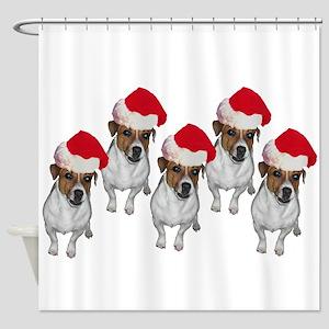 belle-santa-yardsign Shower Curtain