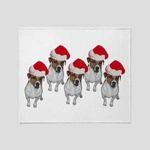 belle-santa-yardsign Throw Blanket