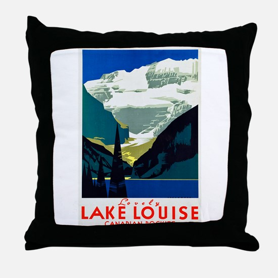 Canada Travel Poster 6 Throw Pillow