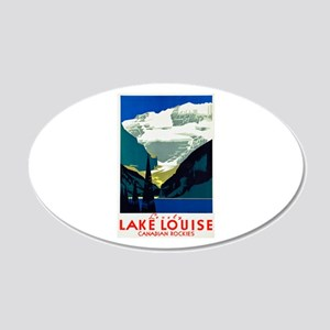 Canada Travel Poster 6 20x12 Oval Wall Decal