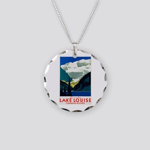 Canada Travel Poster 6 Necklace Circle Charm