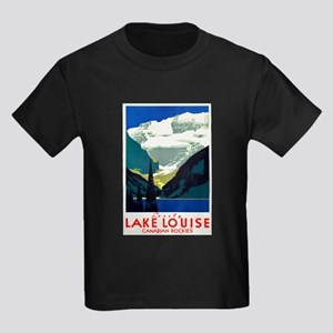 Canada Travel Poster 6 Kids Dark T-Shirt