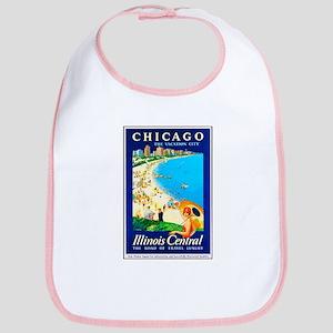 Chicago Travel Poster 1 Bib