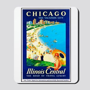 Chicago Travel Poster 1 Mousepad