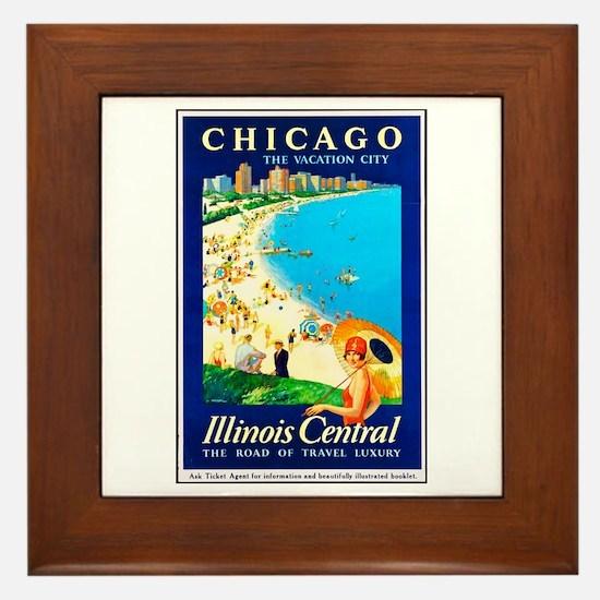 Chicago Travel Poster 1 Framed Tile