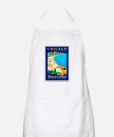 Chicago Travel Poster 1 Apron