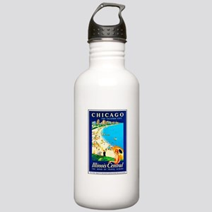 Chicago Travel Poster 1 Stainless Water Bottle 1.0