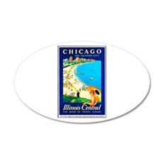 Chicago Travel Poster 1 Wall Decal