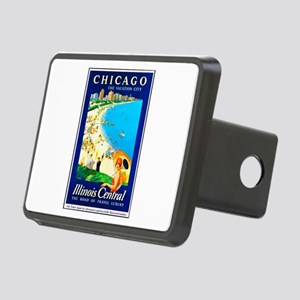 Chicago Travel Poster 1 Rectangular Hitch Cover