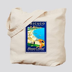 Chicago Travel Poster 1 Tote Bag