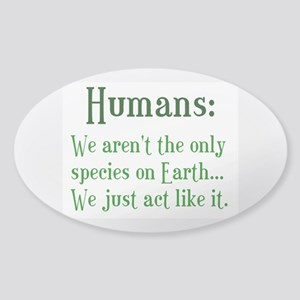 Humans Sticker (Oval)