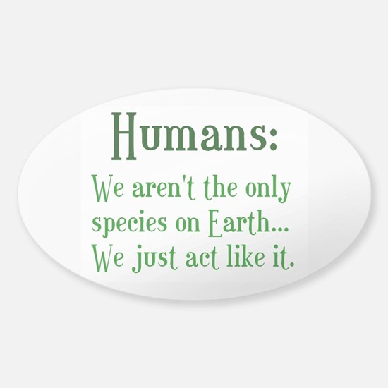 Humans Sticker (Oval)