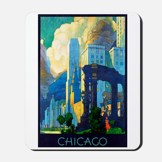 Chicago Travel Poster 3 Mousepad
