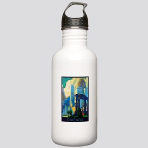 Chicago Travel Poster 3 Stainless Water Bottle 1.0