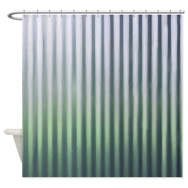 Tin Industrial Chic Shower Curtain by rebeccakorpita