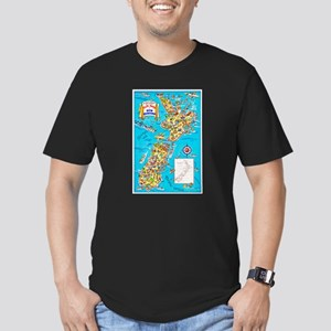 New Zealand Travel Poster 8 Men's Fitted T-Shirt (