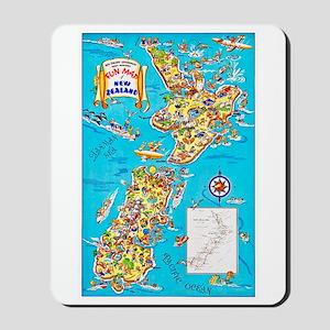 New Zealand Travel Poster 8 Mousepad