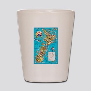 New Zealand Travel Poster 8 Shot Glass