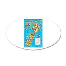 New Zealand Travel Poster 8 Wall Decal