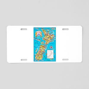 New Zealand Travel Poster 8 Aluminum License Plate