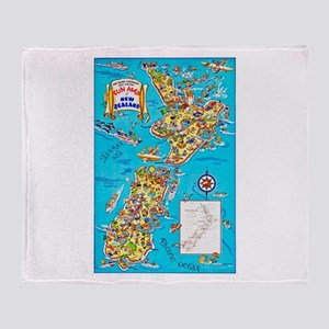 New Zealand Travel Poster 8 Throw Blanket