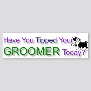 Dog Groomer Tip Bumper Sticker