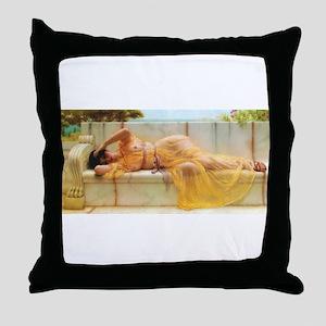 Godward - Girl in Yellow. Throw Pillow