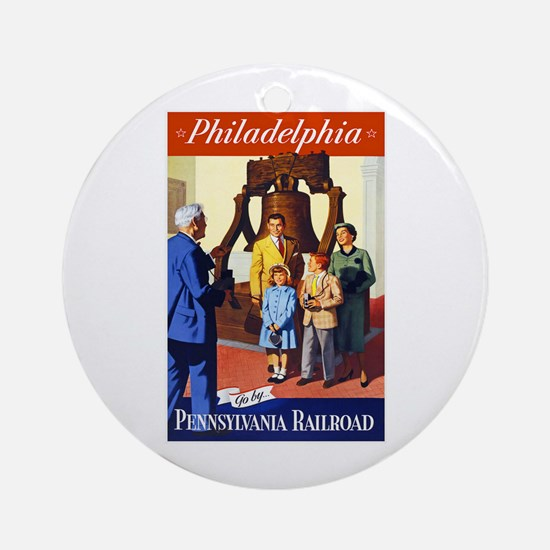 Pennsylvania Travel Poster 3 Ornament (Round)