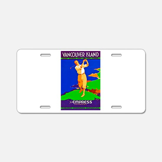 Canada Travel Poster 4 Aluminum License Plate