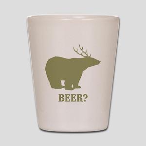 Beer Deer Bear Shot Glass